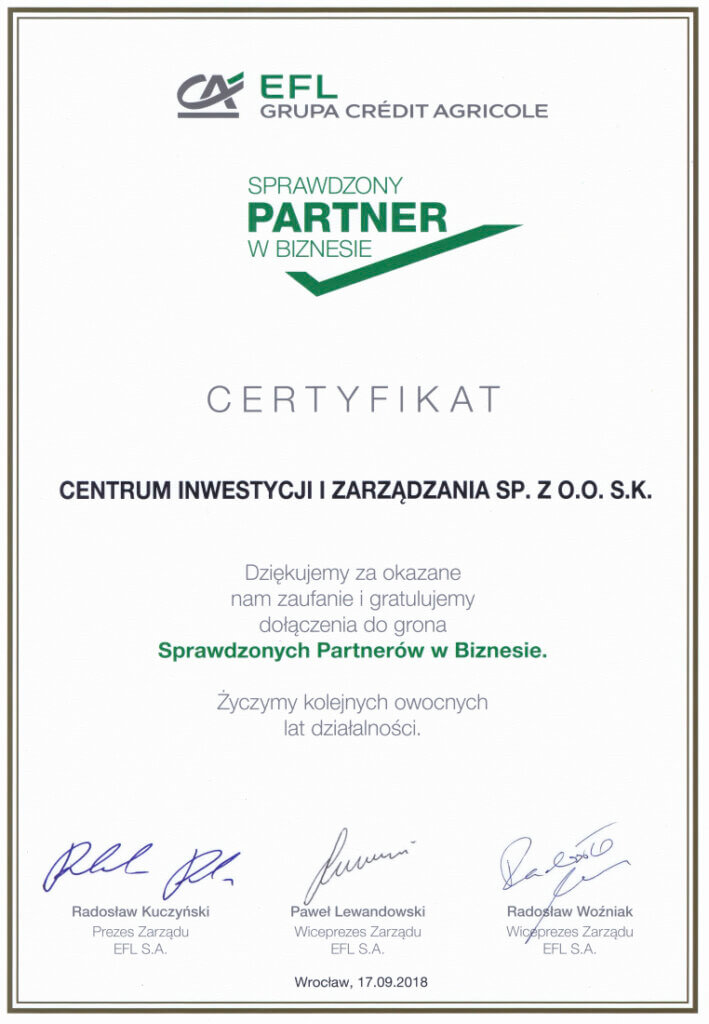 Przykładowe certyfikaty irekomendacje